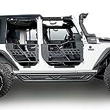 Hooke Road Jeep Wrangler JK Running Boards Drop
