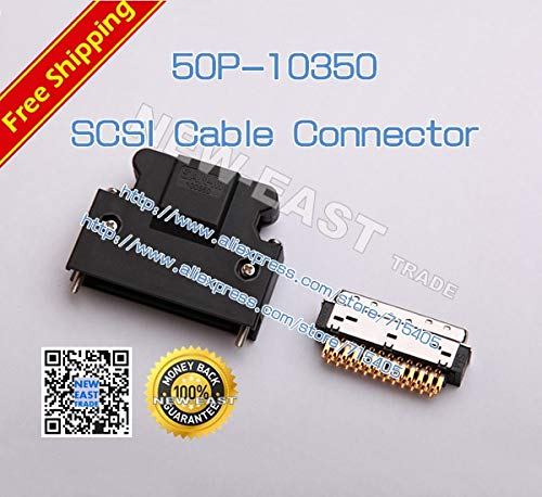 Gimax SAN-M SCSI-50Pin Replace 3M 10350 SCSI Cable Connector Servo drive connector Gold-plated SCSI connector