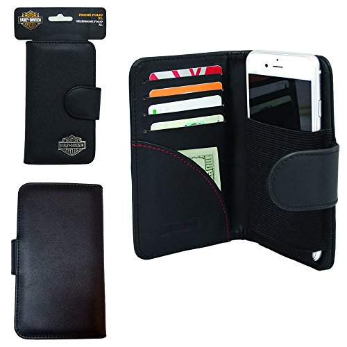 (Harley Davidson Credit Card and Cash Wallet Case for Straight Talk ZTE Max Duo LTE (5.7