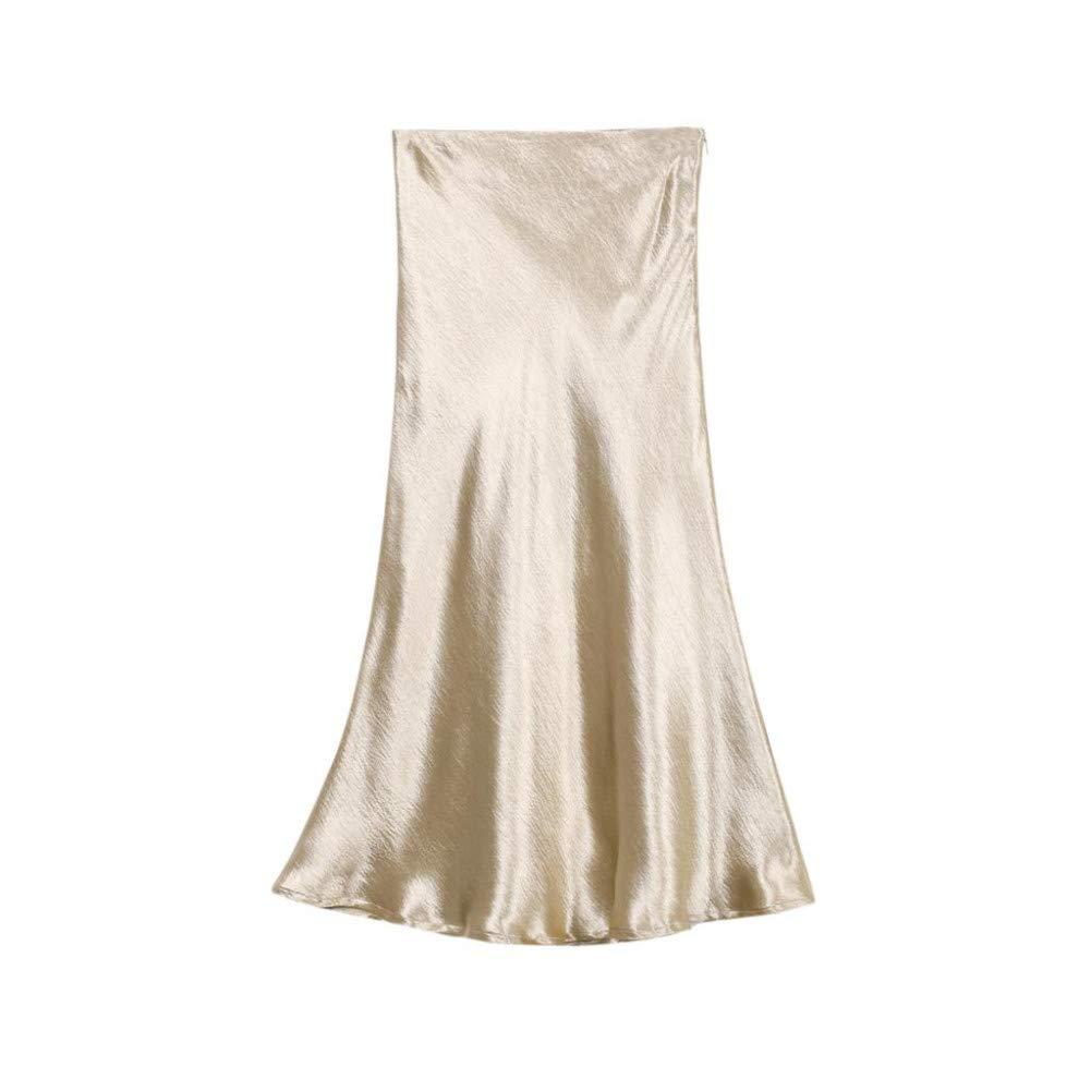 Silver Large FSDFASS Skirt Summer Glossy Satin Trumpet high Waist Skirt Silver gold Long Skirt Metallic color Party Skirt