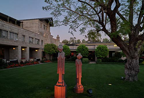 24 x 36 Giclee Print ofReplicas of The Famous Sprite Statues at Dusk, at The Historic Arizona Biltmore Resort in Phoenix, Arizona 2018 by Carol Highsmith 19j