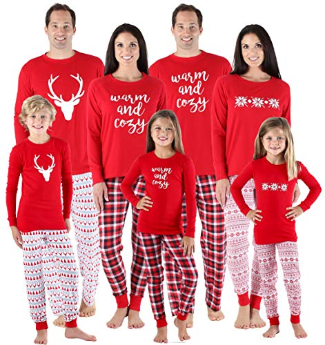 SleepytimePjs Family Matching Sleepwear Knit Holiday Mix Match Pajamas PJs  Collection 7dd906aac