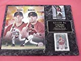 Astros Jeff Bagwell Craig Biggio 2 Card Collector Plaque w/ 8x10 Photo