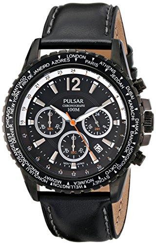 Pulsar Men's PT3585 Analog Display Japanese Quartz Black Watch