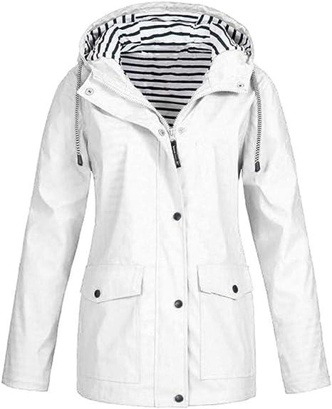 Damen Frauen Windbreaker Parka Jacke Mantel Übergangsjacke Leichter Regenmantel