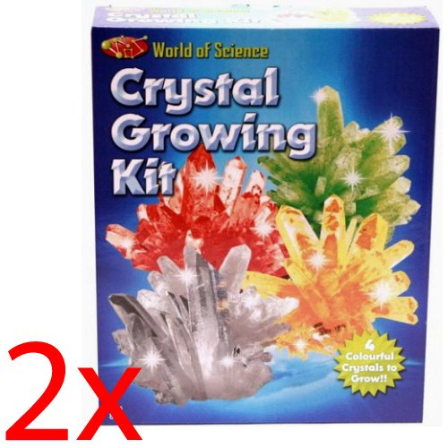 2 X WEIRD SCIENCE MAKE YOUR OWN GROWING KIT CRYSTALS SCIENCE EXPERIMENT SET TOY OOTB