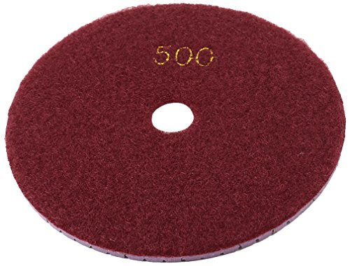 eDealMax de 5 pulgadas de dimetro Grit 500 Amoladora seco hmedo diamante para pulir, Borgoa