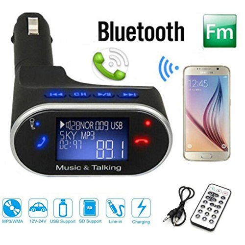 Remote SD USB Charger Kit Bluetooth//wireless LCD car mp3 player fm transmitter