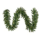 Vickerman Pre-Lit Camdon Fir Garland with 150 Frosted Warm White Italian LED Lights, 9-Feet, Green