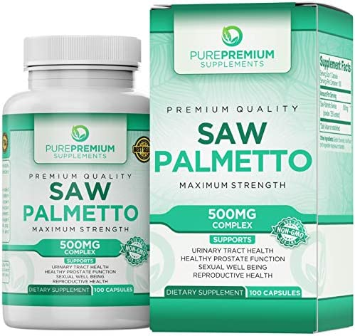 Premium Saw Palmetto Non-GMO Gluten Free Maximum Strength Saw Palmetto Extract Capsules. Formulated for Men and Women. Hair Loss and Prostate Health Supplement.
