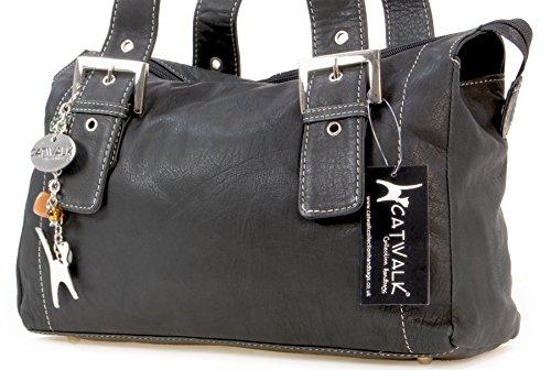 cuir signé Catwalk Collection Jane Sac Noir en RfCq70