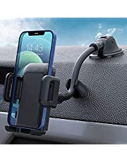 Car Phone Holder, Dashboard Windshield Car Phone Mount with Long Arm, Strong Sticky Gel Suction Cup Phone Holder for Car Compatible with iPhone 12 SE 11 Pro Max XS XR, Galaxy Note 20 S20 and More