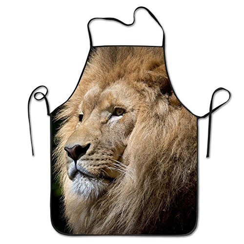 Lion-Wild-Africa-African Personalized Funny Great Home Present for Kitchen BBQ Cook Chef Apron Cooking Professional Adults Bibs Gifts