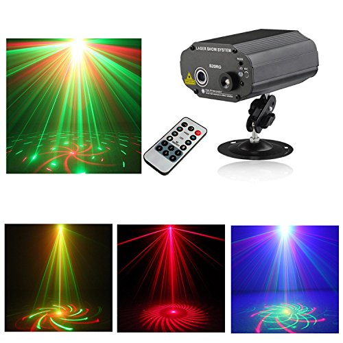 Sumger Mini Remote 20 IN 1 Gobo RGB Led Blue Stage Laser Lighting Sound Active Equipment Effect Disco DJ Light Home Party Lights luces discoteca