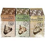 3-pack Variety Divine Meringue Cookies: Chocolate, Vanilla Bean & Key Lime Coconut, 2 Oz. Packages [1 of Each]