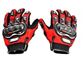 Probiker Motorcycle Bike Racing Riding Gloves (Red, XL)