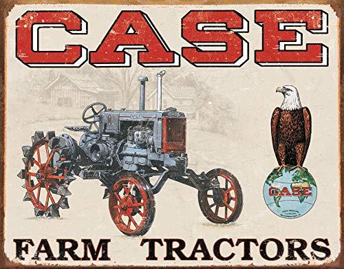"Desperate Enterprises Case Farm Tractors - CC High Tin Sign, 16"" W x 12.5"" H"