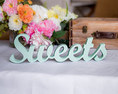 Amazon.com: Sweets Table Sign for Wedding, Dessert Table or Cake ...
