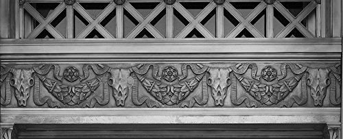 24 x 36 B&W Giclee Print of Architectural details at the Texarkana U.S. Post Office and Federal Building 2013 Highsmith 08a