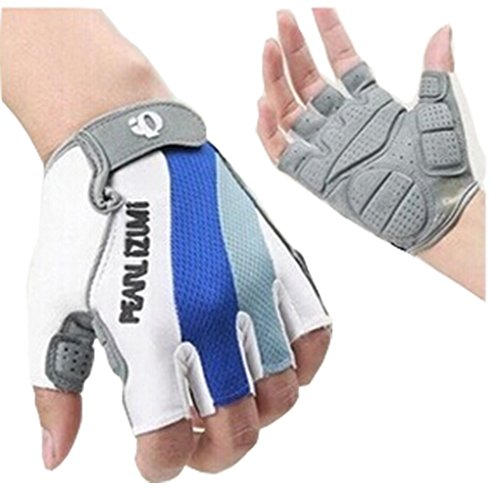 Bike Half Finger Gloves Outdoor Sports Gloves Cycling Short Glove Reflex Gel Bicycling Gloves (L)