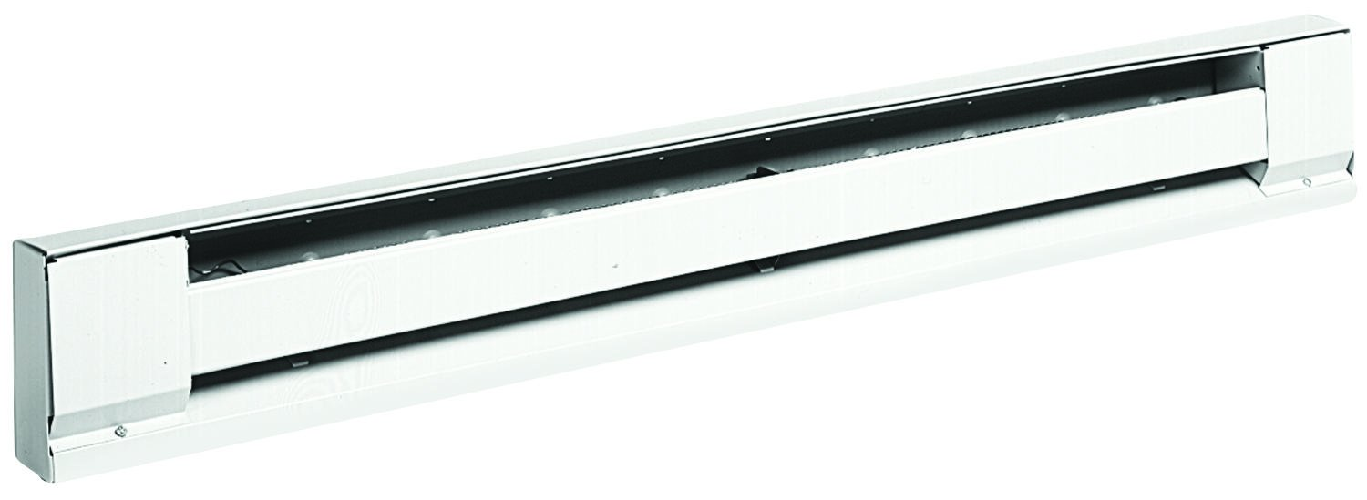 TPI H2925120S Series 2900S Electric Baseboard - Stainless Steel Element Convection Heater, 240 / 208 V, Ivory