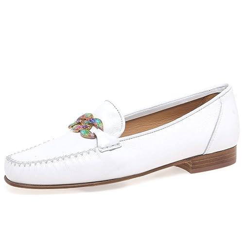 PASCUCCI - Mocasines de Piel para mujer Blanco blanco: Amazon.es: Zapatos y complementos