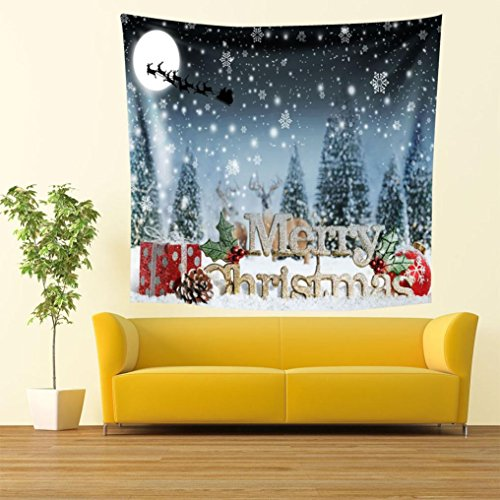 YRD TECH Christmas Print Wall Hanging Tapestry Beach for sale  Delivered anywhere in USA