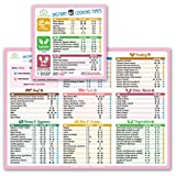 Best Improved Version Instant Cooking Times Cheat Sheet Magnets 11'x8' (Pink) for Instant Pot Pressure Cooker Accessories Large Fonts Magnetic Cook Times Chart Guide Holiday New Year Gift Superb Home