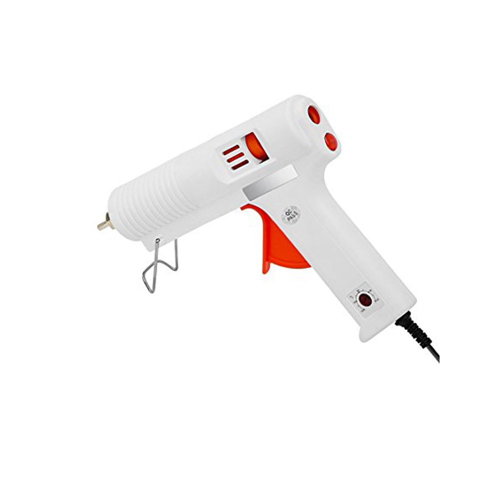 Sundarling Hot Glue Gun Adjustable Temperature 100W Professional Full Size Hot Melt with High and Low Temp Interchangeable Non-drip Nozzle