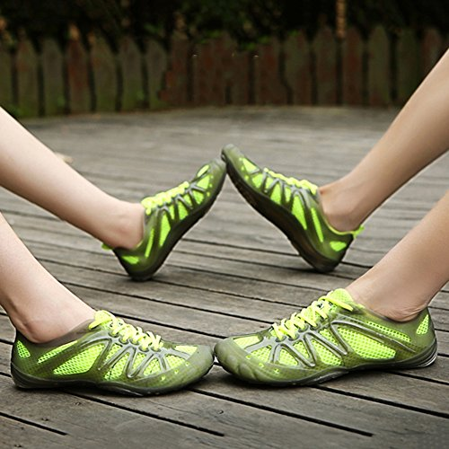 Masculino Sandalias Rápido Uso EU37 Secado PENGFEI Azul Verano De 235 Verde 4 Tamaño Turismo Vadeando Senderismo Dual Color Colores UK5 5 Hembra Zapatos US6 qx7z7w5