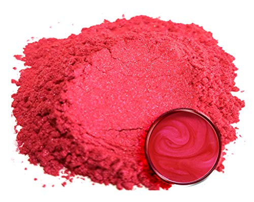 "Red Pearl Acrylic Lacquer - Eye Candy Mica Powder Pigment ""Cherry Blossom"" (50g) Multipurpose DIY Arts and Crafts Additive 