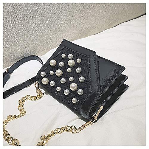 À Noir Perle Pour Daypack Bandoulière La Femmes Main Sangle Fête Shopping Sac Daily Petit Faux Voyage Dentelle Large Carré wFXHHqSRnB