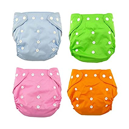61bdfffcc2a Buy HOME CUBE® Adjustable Baby Diapers   Changing Pads Cotton Washable  Reusable Nappy Ages 0 to 2 Years. (Pack of 4) Online at Low Prices in India  - Amazon. ...