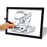 17 Drawing Tablet, Autolizer Adjustable Brightness Tattoo Tracing Pad, LED Board Art Drawing Table Light Box for Animation, Sketching, Designing, Stenciling, Drawing,Sewing (17)