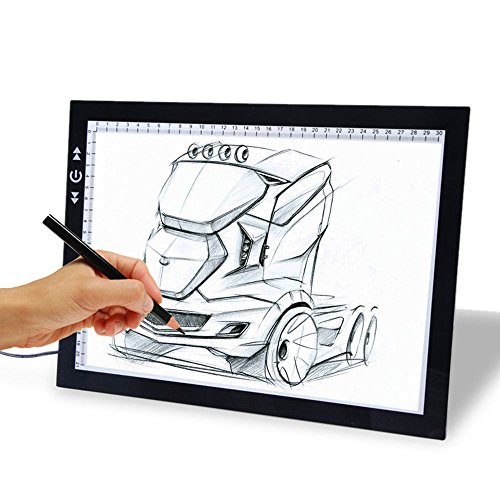 17'' Drawing Tablet, Autolizer Adjustable Brightness Tattoo Tracing Pad, LED Board Art Drawing Table Light Box for Animation, Sketching, Designing, Stenciling, Drawing,Sewing (17'') by Autolizer