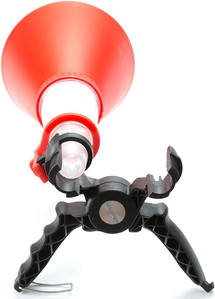 Kit de embudo de aceite del motor de autom/óvil Juego de herramientas de filtro de aceite universal a prueba de derrames Embudo de cebado ajustable Dispositivo de sistema de carga de aceite de llenado