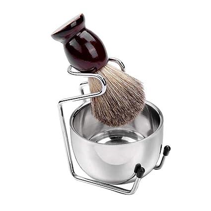 Hellery Set de Manual Maquinilla de Afeitar Soporte de Acero ...