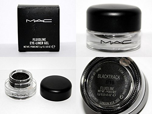 Mac Fluidline Eyeliner Gel (MAC Fluidline Eye Liner Gel Blacktrack Black Waterproof NEW [Made In Canada] 100% Authentic Or Your Money Back Guaranteed)