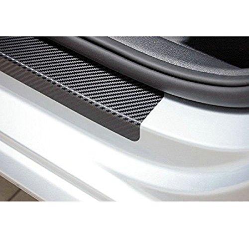 A.S. Auto Parts 3D Carbon Fiber Car Entry Door step Scratch Protector 4 Piece Sticker Set. New Car Decorative Door Sill Scratch Protector