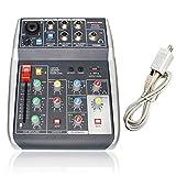 Phenyx Pro 4-Channel Audio Mixer, 4-Input, 3-Band