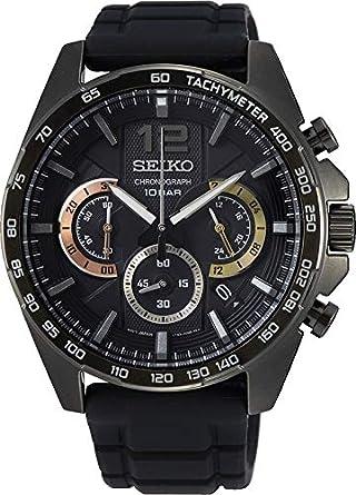 Seiko - Reloj cronógrafo para Hombre (Acero Inoxidable, con Correa de Metal)