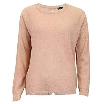 edee2398397 Brave Soul Ladies Jumper Womens Knitted Lace Up Dip Hem Sweater Crew ...