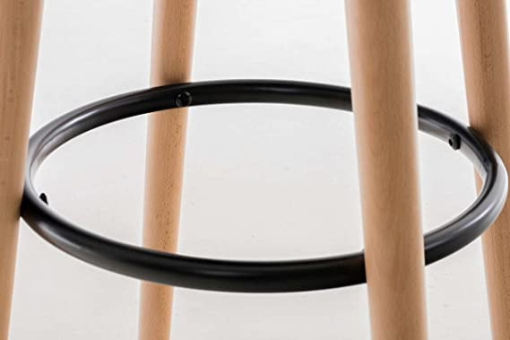Clp sgabello bar karl in tessuto sedia cucina senza schienale
