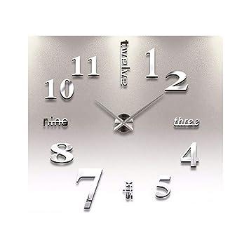 Amazon.com: Adarl - Reloj de pared con números de espejo y ...