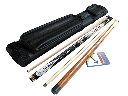 Champion White Spider Maple Pool Cue Stick 21 oz, Jump And Break Cue 22Oz, Black 2x2 Case, 2 Billiard Glove, Retail Price $199.67 (White Spider Pool)