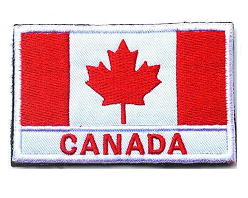 Embroidery Each Country's Flag Patch (3''X2'', Canada)