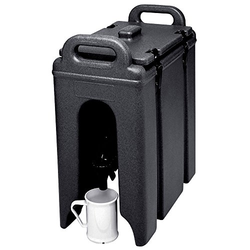 Cambro 250LCD-110 250LCD110 Black 2.5 Gal. Beverage Camtainer