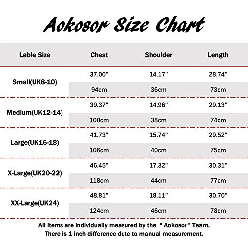 Aokosor Women's Long Sleeve Casual Round Neck Sweatshirts Loose Tunics Tops with Pockets