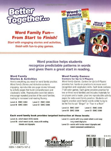 Counting Number worksheets kindergarten cut and paste worksheets free : Amazon.com: Word Family Stories & Activities, Level A ...