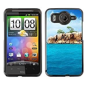 Caucho caso de Shell duro de la cubierta de accesorios de protección BY RAYDREAMMM - HTC G10 - Paradise Rocks